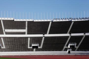 empty stands of the stadium