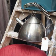 metal kettle on the flea-market