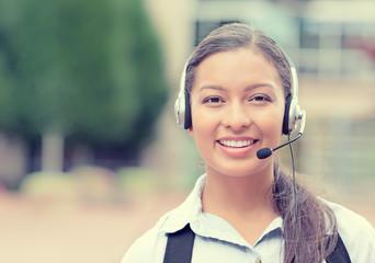 customer service representative, call center agent on phone