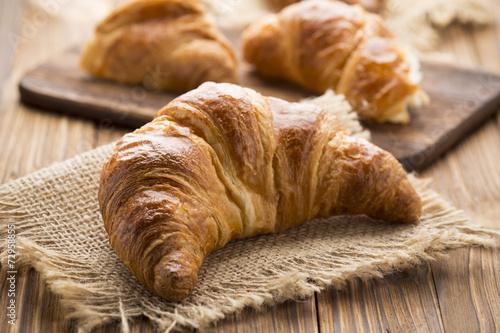 Foto op Plexiglas Bakkerij Croissant.