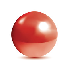 Photorealistic shiny red orb