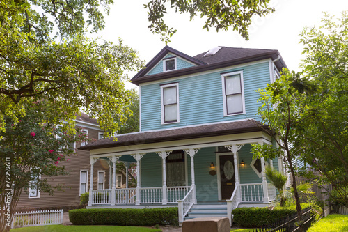 Deurstickers Texas Houston Heights Blvd townhouses in Texas US