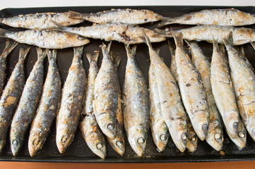 grill grilled sardines