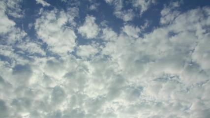 Stratocumulus cloud running in rainy season