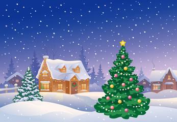Christmas suburb