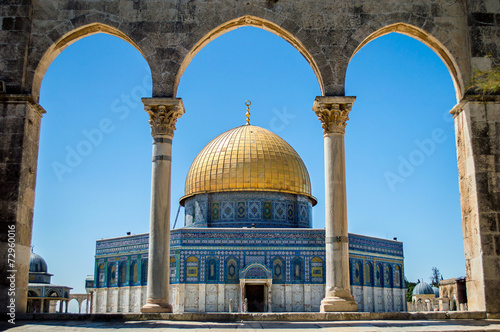 Poster Oude gebouw Dome of the Rock on the Temple