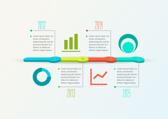 Abstract Timeline Infographic, Vector design template