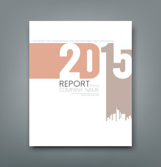 Cover Report number 2015 and silhouette building