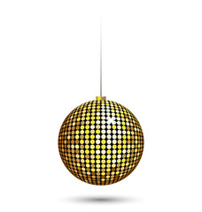 Sparkle Christmas ball isolated on white background
