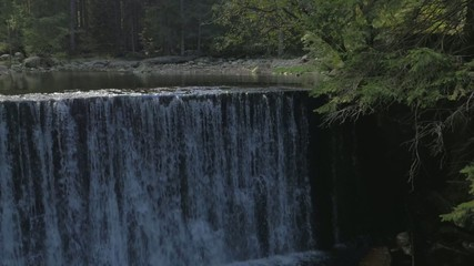 Aerial shot of the waterfall
