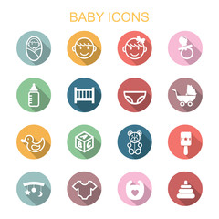 baby long shadow icons