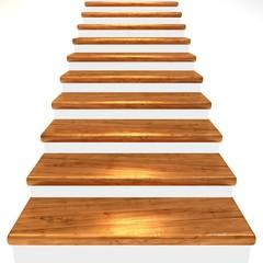 Holztreppe, braun