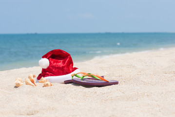Tropical Christmas on a tranquil beach