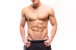 Leinwanddruck Bild - Shirtless muscular man sexi torso