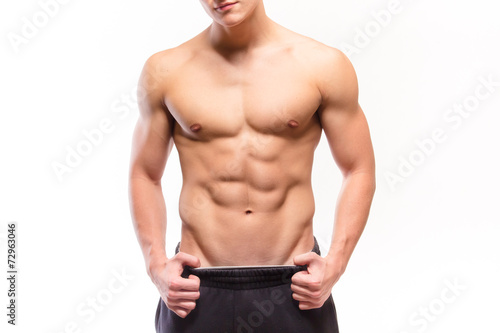 Leinwanddruck Bild Shirtless muscular man sexi torso
