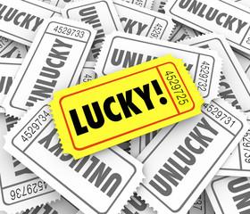 Tickets Lucky Versus Unlucky Words Raffle Contest Winner Odds Ch