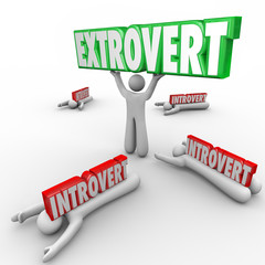 Extrovert Vs Introvert People Uninhibited Outgoing Character
