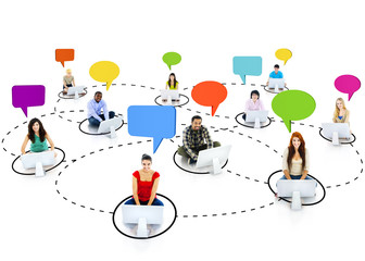 Group of People Social Networking