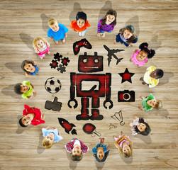 Multiethnic Group of Children