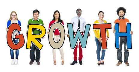 Group of People Standing Holding Growth