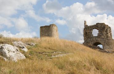 Ruins of the old fortress of Kalamita. Inkerman. Crimea,