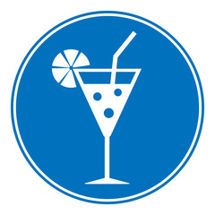 Cocktail sign is allowed to drink