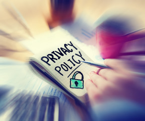 Businessman Working Security Privacy Policy
