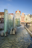 Wroclaw City center, Fountain and Market Square tenements poster