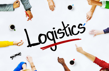 Group of Casual People Discussing about Logistic