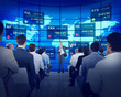 Business People Corporate Seminar Stock Exchange Finance Concept