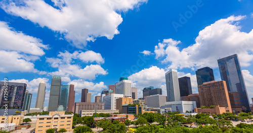 Houston skyline from south in Texas US