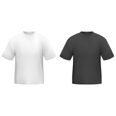 tshirt black and white