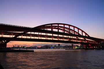 神戸大橋夕景