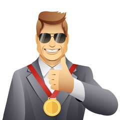 winner with medal