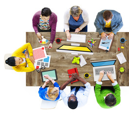 People Working in a Conference Photo Illustration