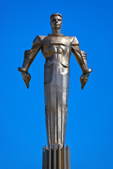 Yuri Gagarin monument - Moscow Russia