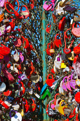 Love locks tree in Moscow Russia