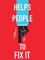 Word HELPS PEOPLE