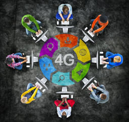 Group of People Conneting 4G