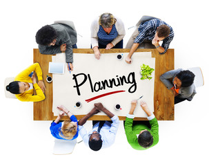 Multi-Ethnic Group of People and Planning Concept