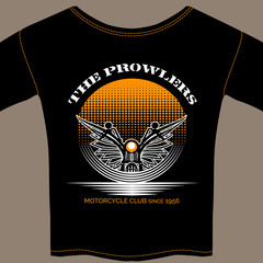 T-shirt template for motorcycle club member
