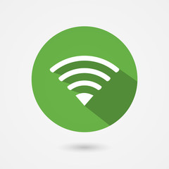 Flat icon fior free wifi connection
