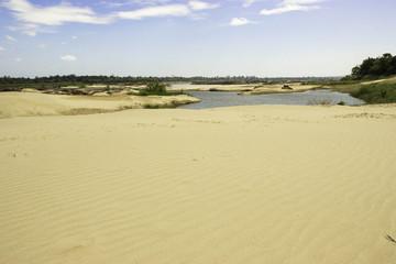 Beach sampanbok Mekong River