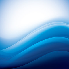 blue background with folding waves