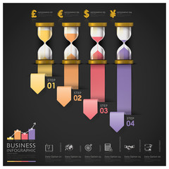 Sandglass Money And Financial Business Staircase Step Infographi