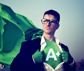 Superhero Businessman Grade A plus Concepts
