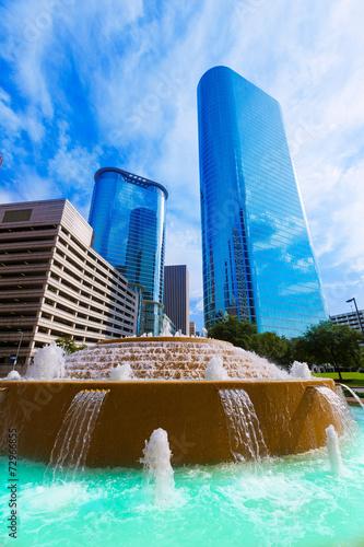 Fotobehang Texas Bob and Vivian Smith fountain in Houston Texas