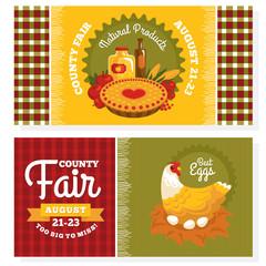 County fair vintage invitation cards