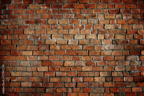 Leinwanddruck Bild Classic Beautiful Textured Brick Wall
