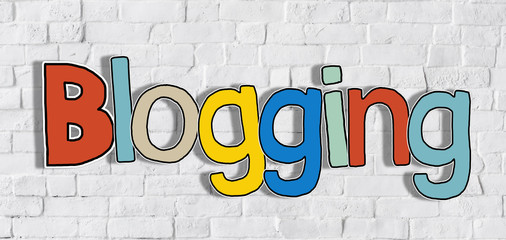 The Word Blogging on a Brick Wall